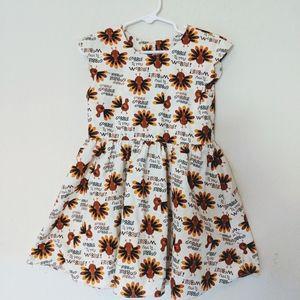Gobble'til you wobble! Girl's dress.